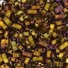 Miyuki Tila Half Cut 5X2.3mm 2Hole Gold Opaque Iris Metallic